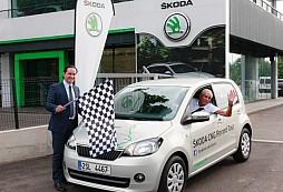 ŠKODA Citigo CNG na rekordní jízdě Evropou